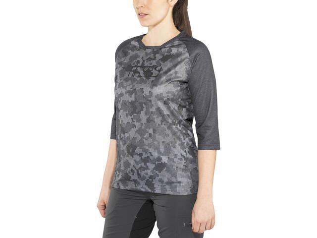 IXS Carve 3/4 Jersey Damen black/camo